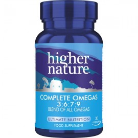 HIGHER NATURE COMPLETE OMEGAS 3:6:7:9 30CAPS